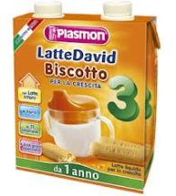 PLASMON LATTE DAVID BISCOTTO 3 - LATTE LIQUIDO PER LA CRESCITA - DA 1 ANNO - 2 x 500 ML