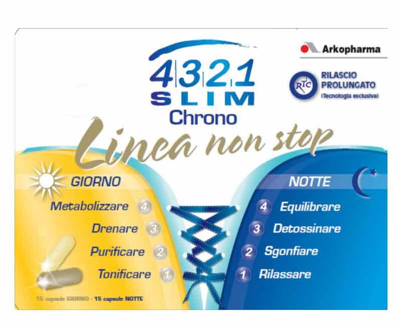 4321 SLIM CHRONO LINEA NON STOP - AZIONE DIMAGRANTE E SNELLENTE - 30 CAPSULE
