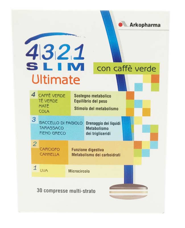 4321 SLIM ULTIMATE CON CAFFE VERDE 30 COMPRESSE