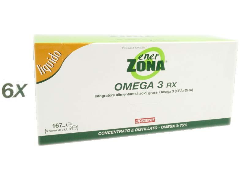 6 OMEGA 3 RX ENERZONA® LIQUIDO 5 FLACONI DA 33,3 ML