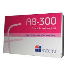 AB 300 - ACIDO BORICO - 10 CAPSULE MOLLI VAGINALI