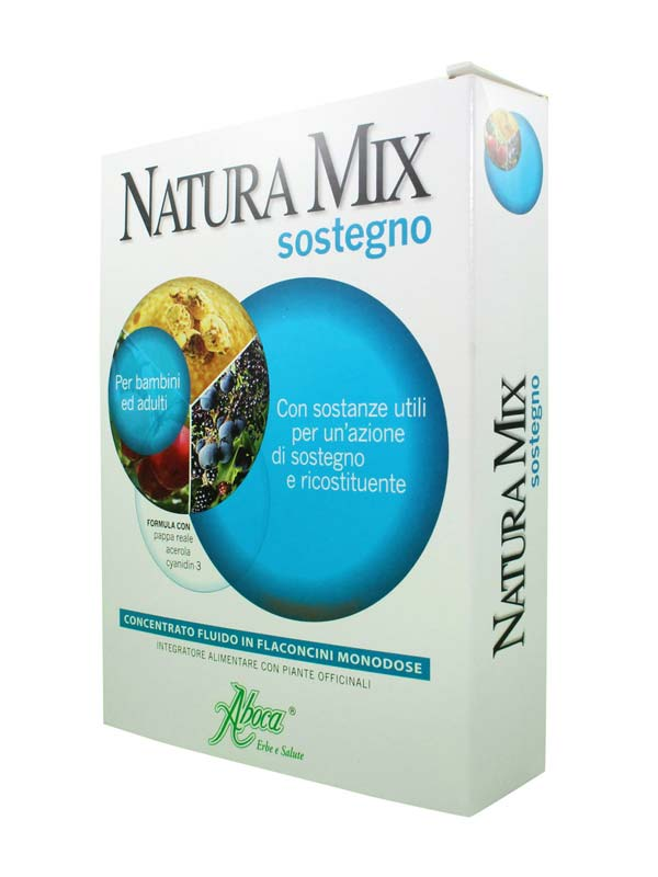 ABOCA NATURA MIX SOSTEGNO 10 FLACONCINI DA 15 G