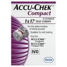 ACCU CHEK COMPACT PLUS MISURAZIONE DELLA GLICEMIA - 17 STRISCE