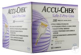 ACCU CHEK SAFE T-PRO UNO LANCETTE PER LA MISURAZIONE DELLA GLICEMIA - 200 PEZZI