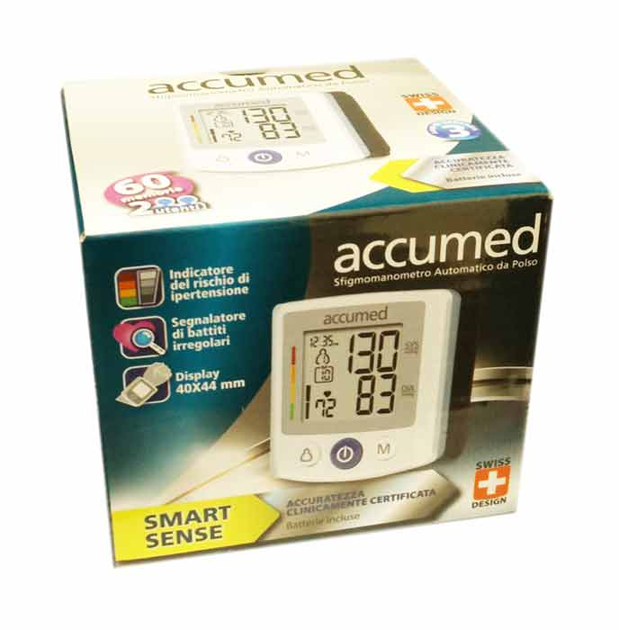 ACCUMED SFIGMOMANOMETRO AUTOMATICO DA POLSO SMART SENSE