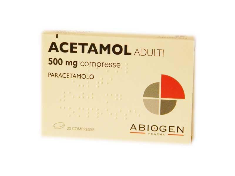 ACETAMOL ADULTI 500MG -  20 COMPRESSE
