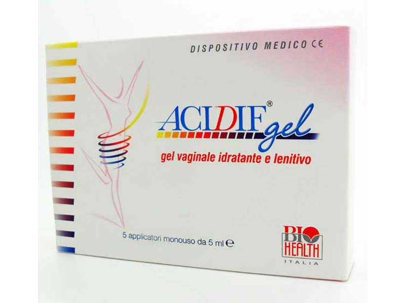 ACIDIF GEL VAGINALE LENITIVO E PROTETTIVO 5 APPLICATORI DA 5 ML