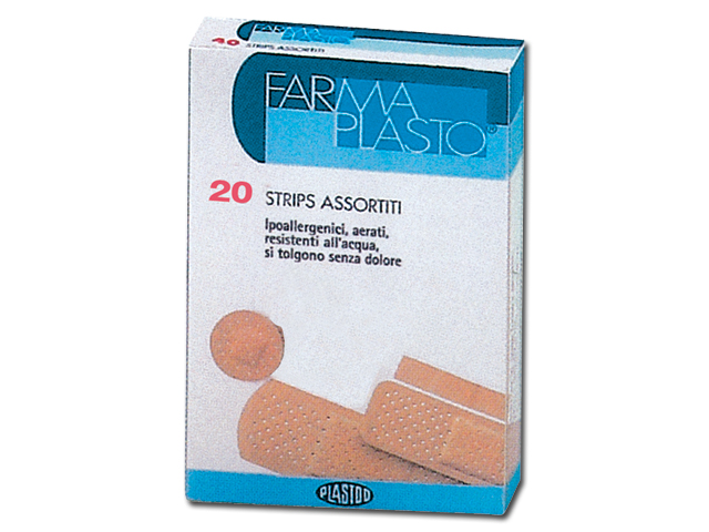 ADHESIVE PLASTERS - 4 mixed sizes - 100 box of 20 pcs.