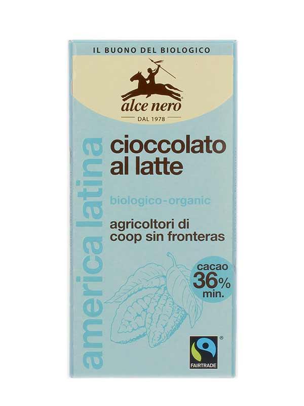 ALCE NERO CIOCCOLATO AL LATTE 36% BIOLOGICO - 100 G