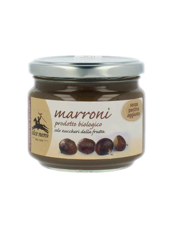 ALCE NERO COMPOSTA DI MARRONI BIOLOGICA - 270 G