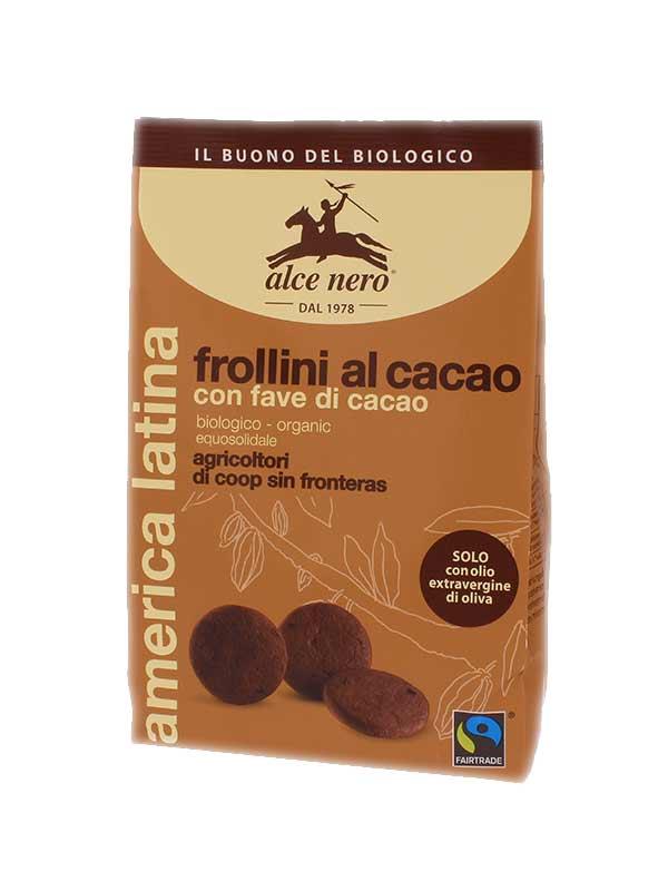ALCE NERO FROLLINI AL CACAO CON CON FAVE DI CACAO BIOLOGICI - 250 G