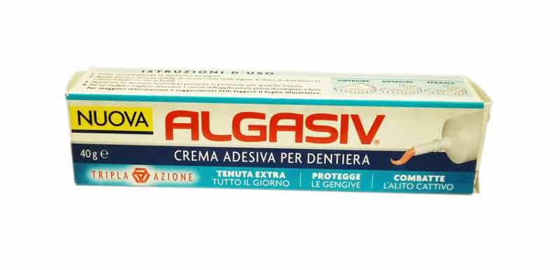 ALGASIV CREMA ADESIVA TRIPLA AZIONE PER DENTIERA 40 G