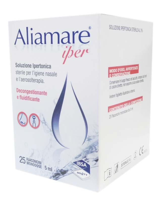 ALIAMARE IPER SOLUZIONE IPERTONICA 25 FLACONCINI MONODOSE DA 5 ML