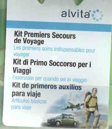 ALVITA KIT DI PRIMO SOCCORSO PER I VIAGGI
