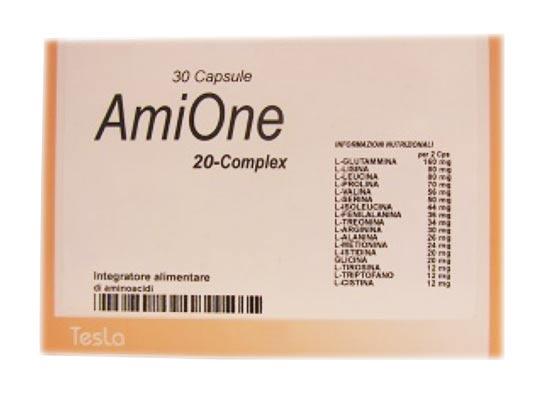 AMIONE 20 COMPLEX INTEGRATORE ALIMENTARE DI AMINOACIDI - 30 CAPSULE