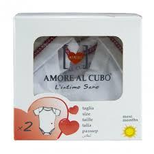 AMORE AL CUBO BODY MANICA CORTA TESSUTO JERSEY ESTIVO - DA 0 A 3 MESI - DA 52 A 60 CM