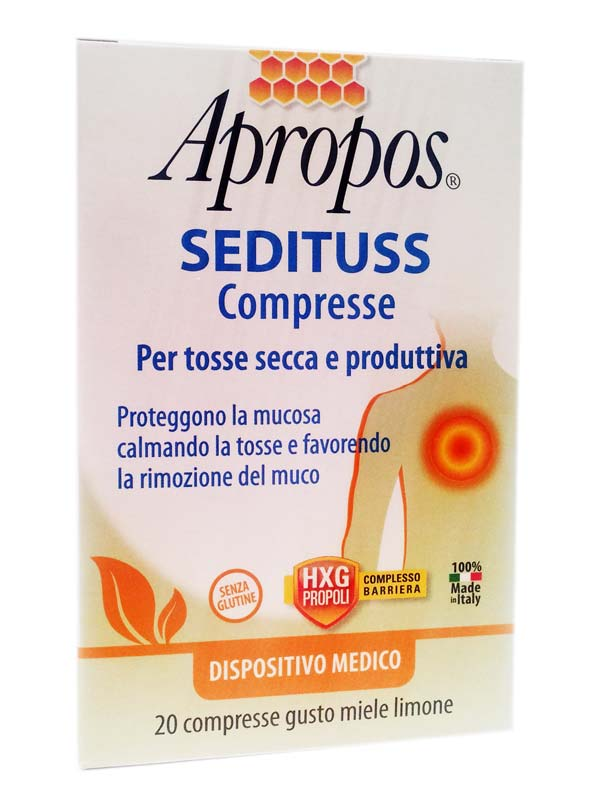 APROPOS SEDITUSS GUSTO MIELE LIMONE 20 COMPRESSE