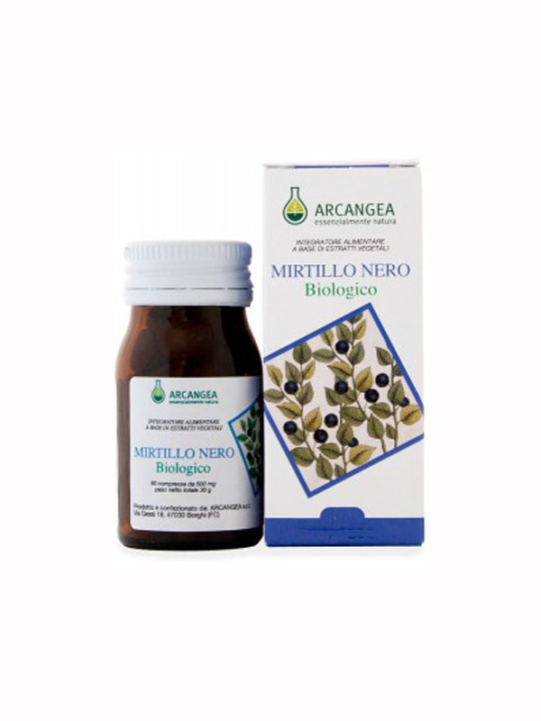 ARCANGEA MIRTILLO NERO BIOLOGICO 30 COMPRESSE DA 500 MG