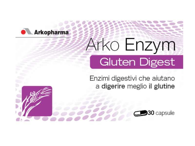 ARKO ENZYM - UTILE PER FAVORIRE LA DIGESTIONE DEL GLUTINE - 30 CAPSULE