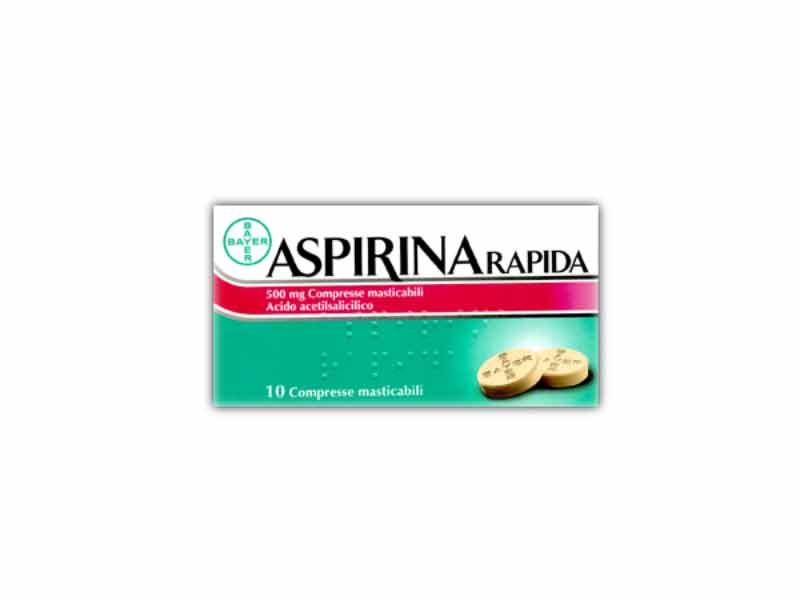ASPIRINA RAPIDA 500MG - 10 COMPRESSE MASTICABILI