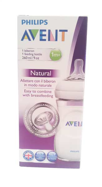 AVENT BIBERON NATURAL 1M+ - 260 ML