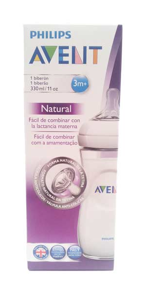 AVENT BIBERON NATURAL 3M+ - 330 ML