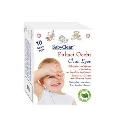 BABY CLEAN SALVIETTINE PULISCI OCCHI - 10 PEZZI