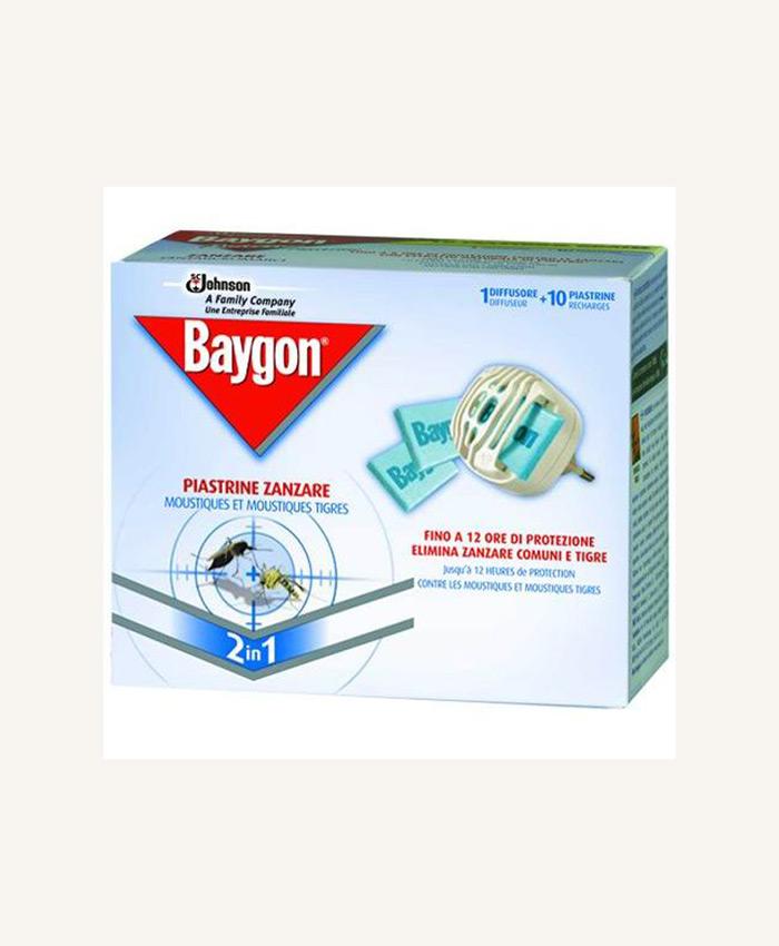 BAYGON PIASTRINE ZANZARE DIFFUSSORE + 10 PIASTRINE