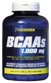 BCAAS 1000 mg EUROSUP 300 COMPRESSE
