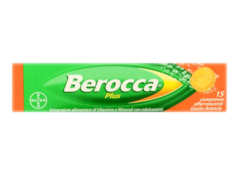 BEROCCA PLUS 15 COMPRESSE EFFERVESCENTI GUSTO ARANCIA
