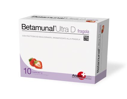 BETAMUNAL ULTRA D INTEGRATORE IMMUNO MODULANTE SELETTIVO GUSTO FRAGOLA - 10 BUSTINE