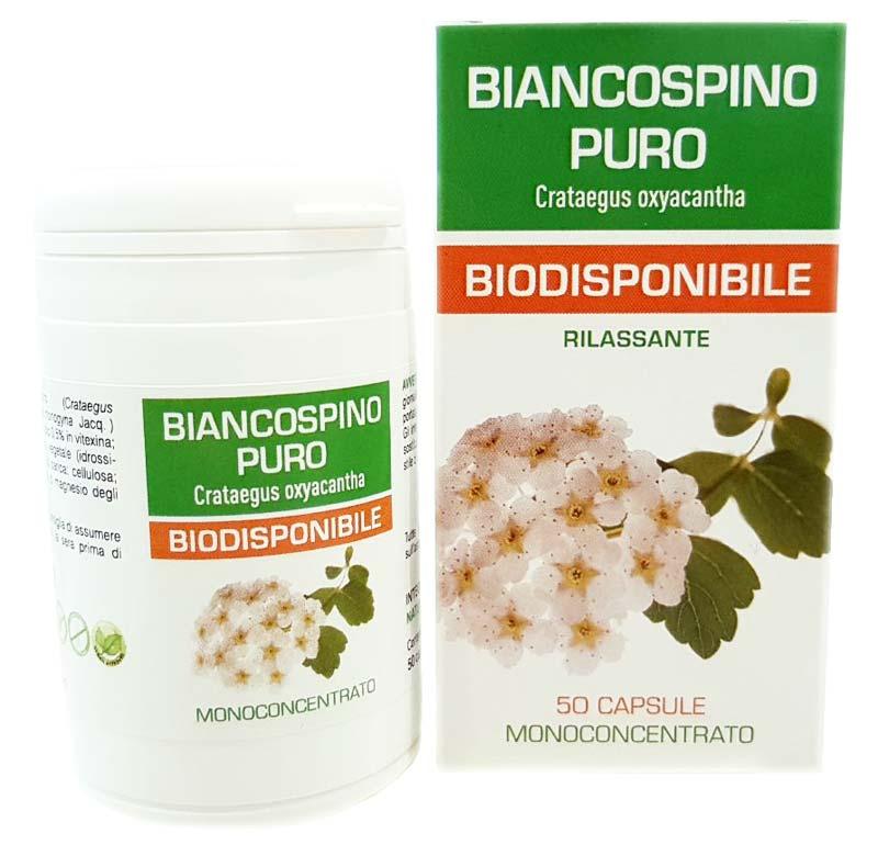BIANCOSPINO PURO BIODISPONIBILE 50 CAPSULE DA 450 MG