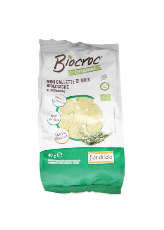 BIOCROC MINI GALLETTE DI MAIS BIOLOGICO AL ROSMARINO - 40 G
