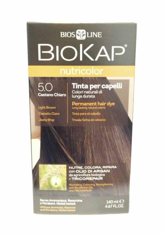BIOKAP NUTRICOLOR TINTA 5.0 CASTANO CHIARO 140 ML c95ab4af3f4d