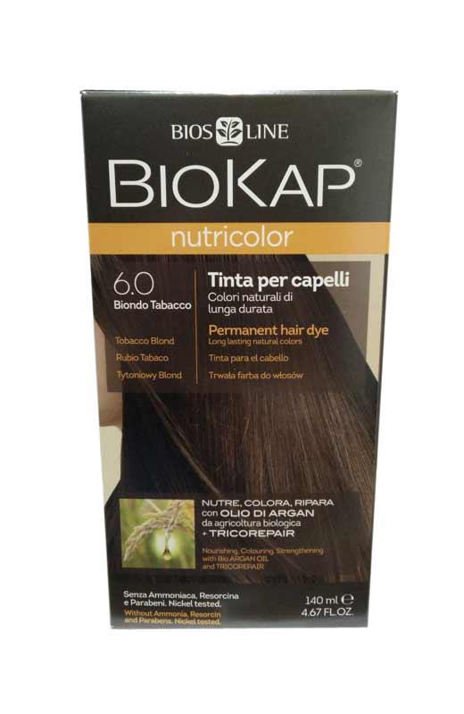 BIOKAP NUTRICOLOR TINTA 6.0 BIONDO TABACCO 140 ML