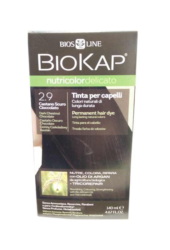 BIOKAP NUTRICOLOR TINTA DELICATO - 2.9 CASTANO SCURO CIOCCOLATO - 140 ML