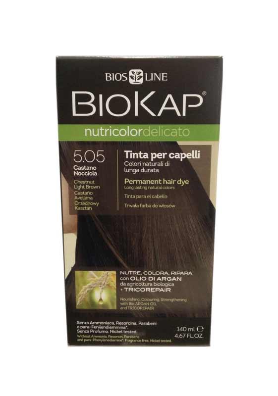 BIOKAP NUTRICOLOR TINTA DELICATO - 5.05 CASTANO NOCCIOLA - 140 ML