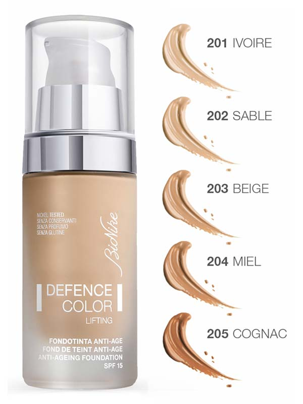 BIONIKE DEFENCE COLOR LIFTING FONDOTINTA LIFTING ANTIAGE SPF 15 N 203 BEIGE 30 ML