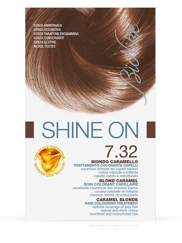 BIONIKE SHINE ON TRATTAMENTO COLORANTE PER CAPELLI 7.32 BIONDO CARAMELLO