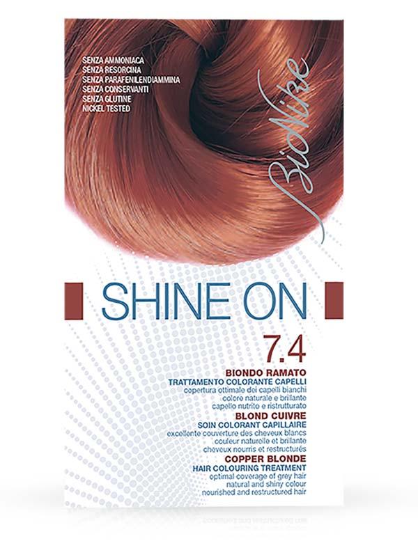 BIONIKE SHINE ON TRATTAMENTO COLORANTE PER CAPELLI 7.4 BIONDO RAMATO