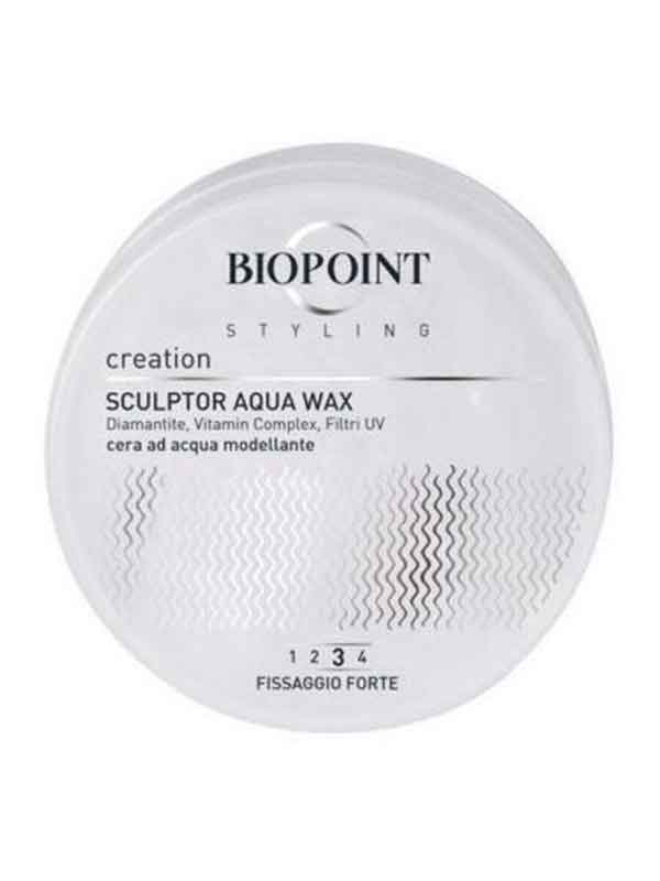 BIOPOINT SCULPTOR AQUA WAX - CERA AD ACQUA MODELLANTE FISSAGGIO FORTE - 100 ML