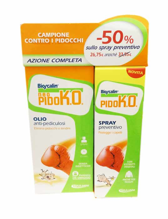 BIOSCALIN OLIO NEO-PIDOKO TRATTAMENTO ANTI PIDOCCHI - 75 ML + PIDOKO SPRAY PREVENTIVO - 100 ML