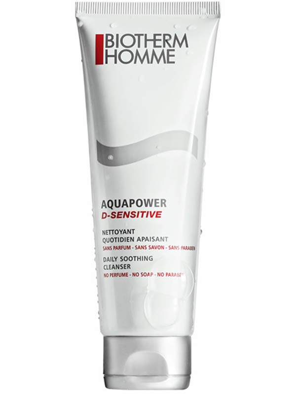 BIOTHERM  HOMME AQUAPOWER D-SENSITIVE DETERGENTE QUOTIDIANO LENITIVO 125 ML