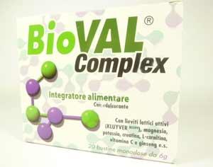 BIOVAL COMPLEX INTEGRATORE ALIMENTARE PROBIOTICO - 20 BUSTINE