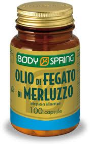 BODY SPRING OLIO DI FEGATO DI MERLUZZO - 100 CAPSULE