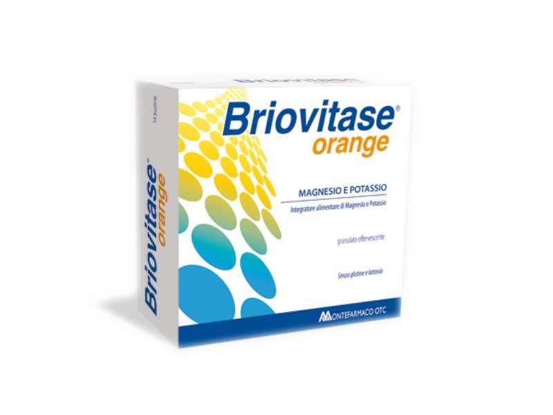 BRIOVITASE ORANGE MAGNESIO E POTASSIO INTEGRATORE ENERGETICO - 30 BUSTE
