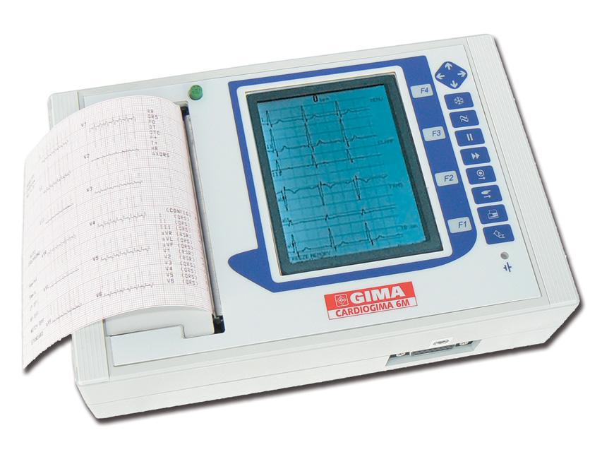 CARDIOGIMA 6M - 3-6-12 canali con interpretazione (monitor 3-6 canali, stampa 3-6-12 canali)