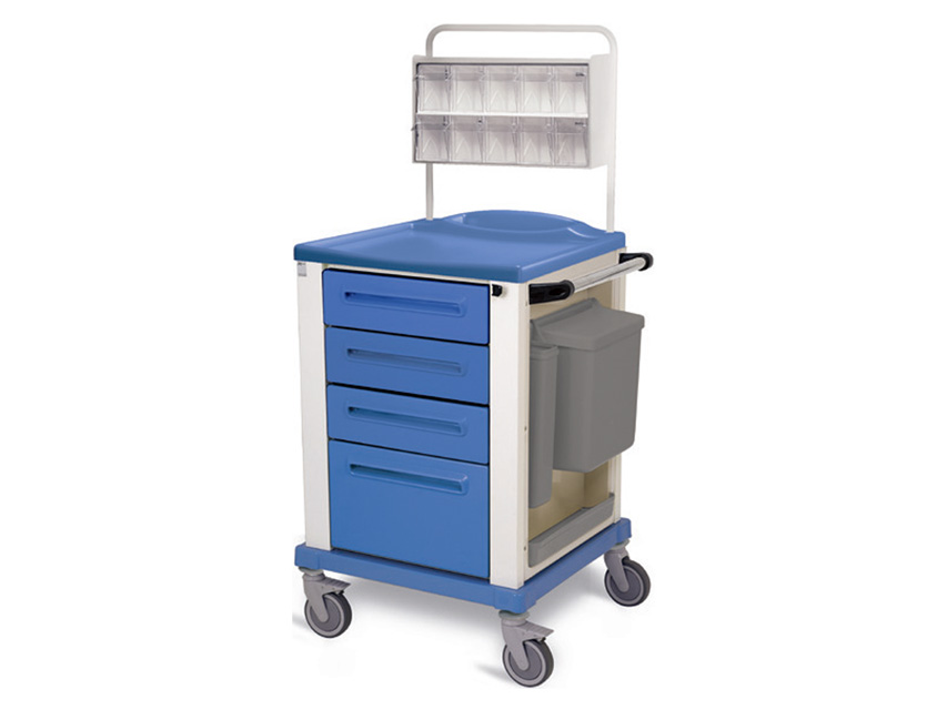 CARRELLO MEDICAZIONE - piccolo - 4 cassetti - blu