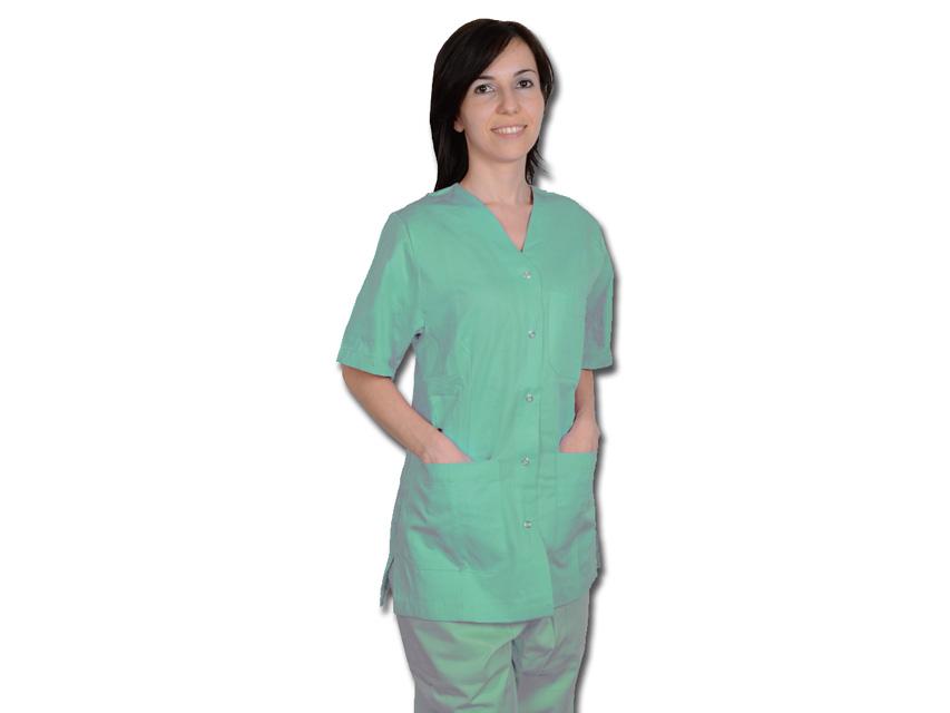 CASACCA CON AUTOMATICI - donna - verde - XS