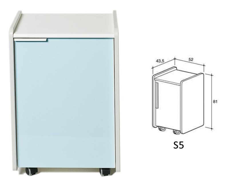 CASSETTIERA S5 - azzurra